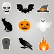 Halloween Vector Elements - Stock Vector