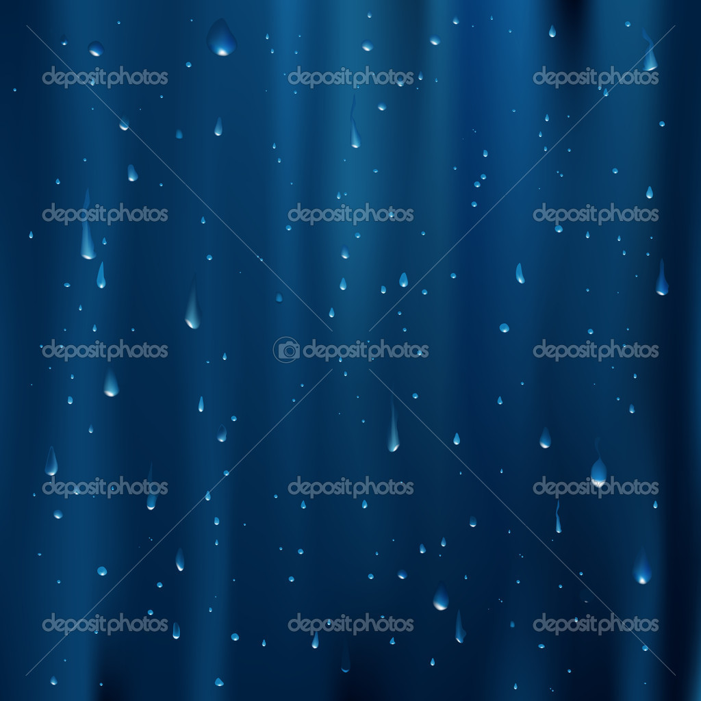 Abstract Blue Background With Water Drops, Vector Illustration — Stock Vector #3683503