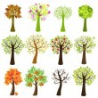 Vector de stock : Collection Of Trees