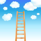 Ladder In Sky — Stock Vector
