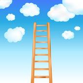 Ladder In Sky — Stock Vector