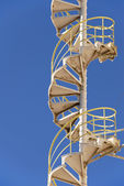 Industrial Spiral Stairs — Stock Photo