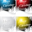 Royalty-Free Stock Vector Image: Christmas designs in 4 colors