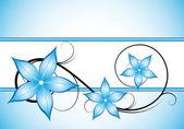 Winter blue floral design — Stock Vector