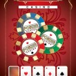 Stock Vector: Poster Poker