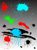 Colored splashes — Vecteur