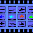 Fische im Filmstrip - Stock Vector