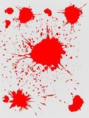 Red splashes — Stock Vector