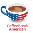 Vector American Coffee break — 图库矢量图片