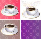 Vector illustration of coffee aroma — Stock Vector