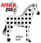 Vector zebra africa soccer ball — Stock Vector