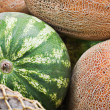 Watermelon and melons — Stock Photo