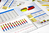 Sales Report in Statistics, Graphs and Charts — Stock Photo