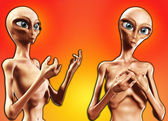 Pair Of Aliens — Stock Photo