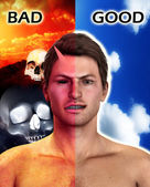 Good And Bad — Stock Photo