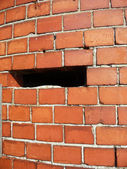 Hole In A Brick Wall — Stock Photo