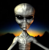 Grey Alien — Stock Photo