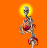 Skeleton In A Bikini — Stock Photo