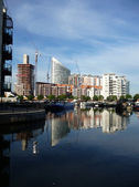 Docklands Reflected View — Stock Photo