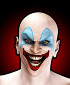 Evil Halloween Clown — Stock Photo
