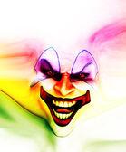 Evil Skin Face Clown — Stock Photo
