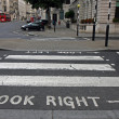Pedestrian zebra crossing in London — Stock Photo