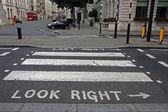 Pedestrian zebra crossing in London — Stock Photo