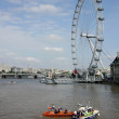 London Eye and rescue team — Stock Photo