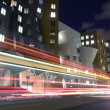 Cambridge street with bus passing — Stock Photo