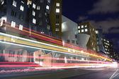 Cambridge street with bus passing — Stock Photo