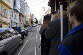 Cable car in San Francisco — Stock Photo