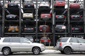 New York multi story parking lots — Stock Photo