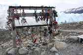 Crampons stand — Stock Photo