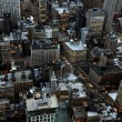 Stock Photo: Aerial closeup view of New York streets
