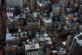 Aerial closeup view of New York streets — Stock Photo