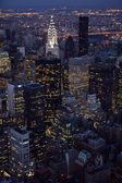 Vertical Aerial view of Manhattan — Stock Photo