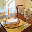 Gold Place Setting - Stock Photo