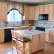 Stock Photo: Modern Maple Kitchen 2
