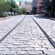 Waterfront Tracks - Stock Photo