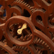 Wooden Clockwork - Stock Photo