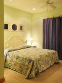 Green Bedroom — Stock Photo