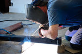 Man Welding — Stock Photo
