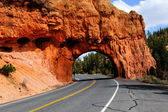 赤い石のトンネル — ストック写真