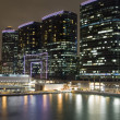 Hong Kong at night with highrise buildin — Stock Photo #2741722