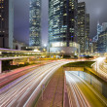Hong kong traffic night — Stock Photo #2742588