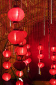 Big red lanterns — Stock Photo