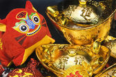 Scène du nouvel an chinois, — Photo
