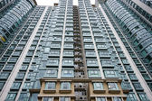 Hong Kong housing apartment block — Stock Photo