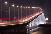 Busy traffic bridge in macau — Stockfoto