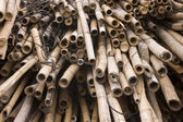 Bamboo for chinese construction site — Stock Photo